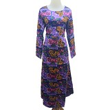 VSTAR Casual Gamis Batik [62-144] - Purple (V) - Maxi Dress Wanita